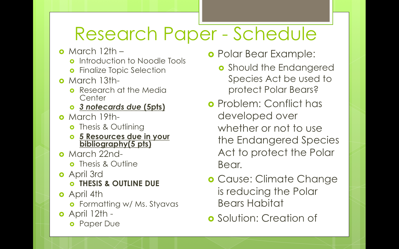 Science Research Paper Topic Ideas